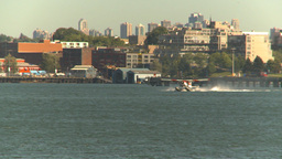 HD2009-6-34-6 float plane takeoff Stock Video Footage
