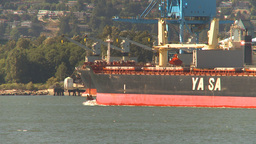 HD2009-6-34-14 cargo ship passes Footage