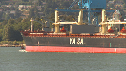 HD2009-6-34-14 cargo ship passes Stock Video Footage