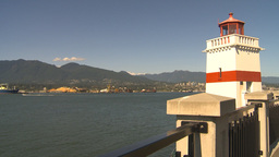 HD2009-6-34-18 lighthouse pan to lions gate bridge Footage