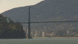 HD2009-6-34-20 lions gate bridge pan Stock Video Footage