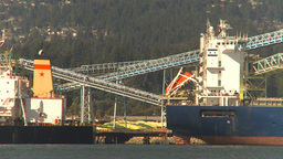 HD2009-6-34-24 cargo ship incoming more ships Stock Video Footage