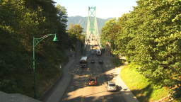 HD2009-6-34-30 lions gate bridge traffic Footage
