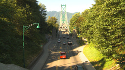 HD2009-6-34-30 lions gate bridge traffic Stock Video Footage