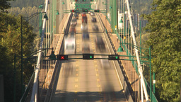 HD2009-6-34-32 lions gate bridge traffic TL flex Footage
