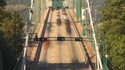 HD2009-6-34-32 lions gate bridge traffic TL flex Stock Video Footage