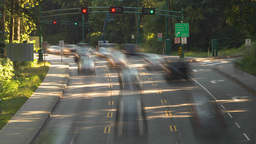 HD2009-6-34-34 Stanley park traffic TL Stock Video Footage