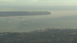 HD2009-6-34-36 Burrard inlet ships Stock Video Footage