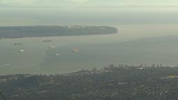 HD2009-6-34-36 Burrard inlet ships Footage