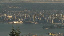 HD2009-6-34-38 Vancouver DT from summit Stock Video Footage