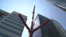 HD2009-6-36RC-2 mammoet crane hi angle Stock Video Footage