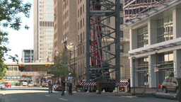 HD2009-6-36RC-12 mammoet crane lower span z Stock Video Footage