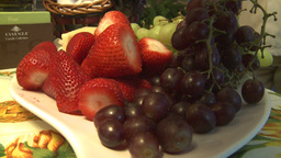 HD2009-3-2-3 strawberries and grapes Stock Video Footage