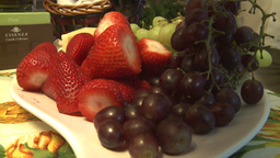 HD2009-3-2-3 strawberries and grapes Footage