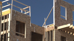 HD2009-3-2-5 condo construction workers Stock Video Footage