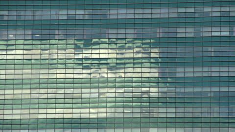 Reflection In A Skyscraper HD stock footage