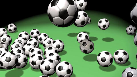 3D Bouncing Soccer Balls stock footage