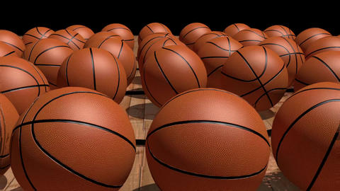 Basketball Bouncing 3D Animation