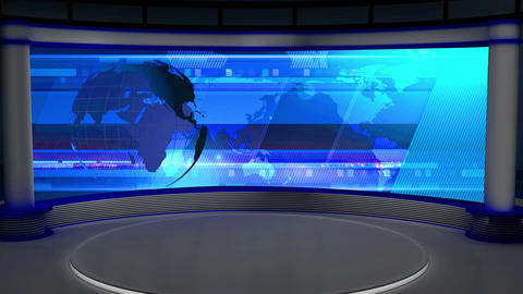 News TV Studio Set 27 - Virtual Background Loop Footage