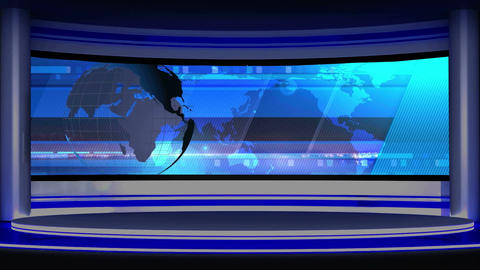 News TV Studio Set 14 - Virtual Background Loop Footage
