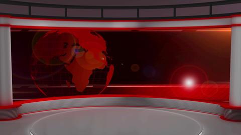 News TV Studio Set 29 Virtual Green Screen Backgro stock footage