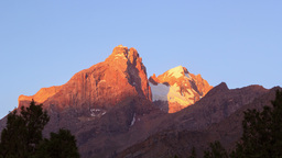 The mountain peaks at dawn. Pamir, Tajikistan. Tim Footage