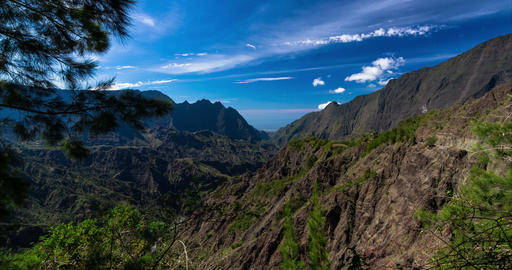 4K Timelapse Of Cirque De Cilaos, Reunion stock footage