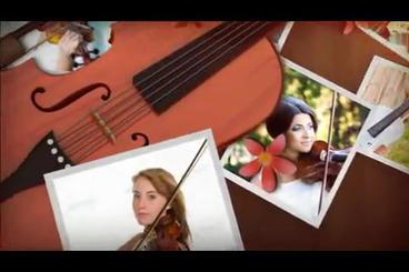 3 D Violin Music Album stock footage