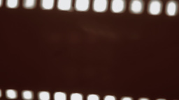 Film strip damaged curled up Footage