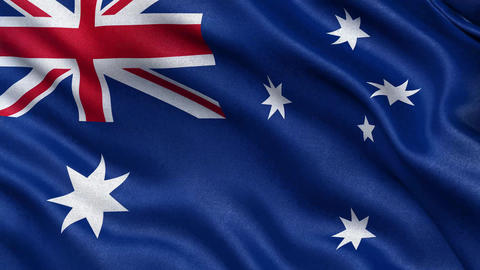 4K Flag of Australia seamless loop Ultra HD Animation