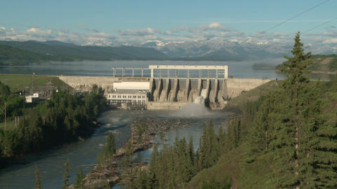 Ghost Hydro Electric Dam 02 Footage