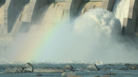 Hydro electric dam spillway 04 Live Action