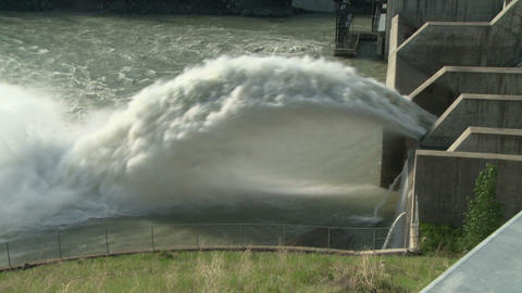 Hydro electric dam spillway 08 Live Action