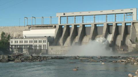 Hydro electric dam spillway ws 05 Footage