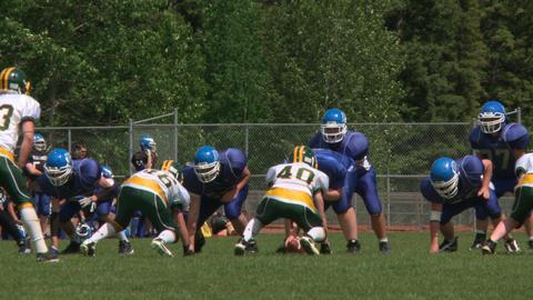 High School Football 1 stock footage