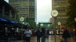 London - August 2014: Time lapse of pedestrian tra Footage