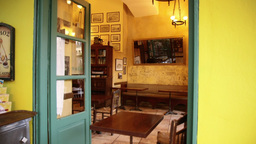 Traditional Cafe Agora Monastiraki Athens stock footage