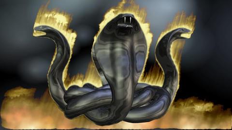 Digital Animation of a Cobra Circle Animation