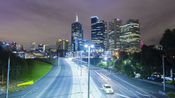 4k hyperlapse video of Melbourne CBD Footage