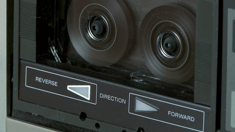 Audio Cassette Fast Rewind 07 stock footage