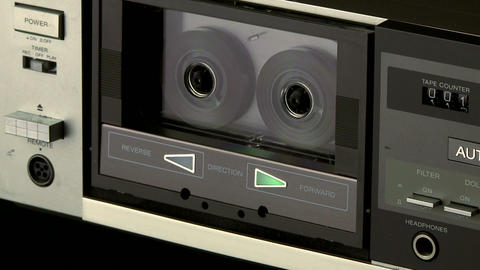 Audio Cassette playback m 02 Footage