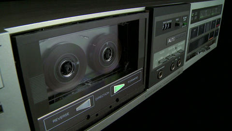 Audio Cassette playback w on off 05 Footage
