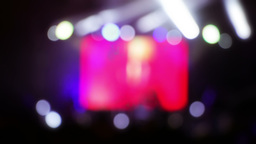 Lighting Effects at a Rock Concert. Defocused. Sea Footage