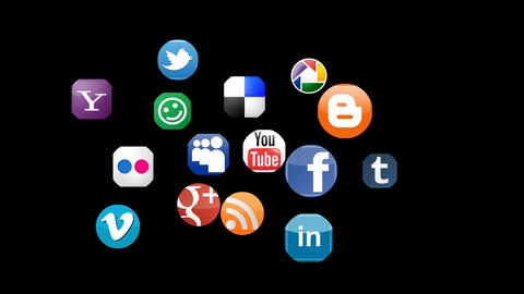 Social Networks Animation Alpha stock footage