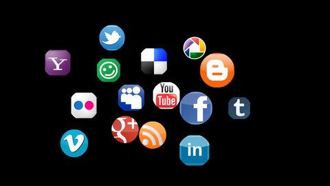 social networks animation alpha Animation