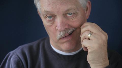 man using toothpick Footage