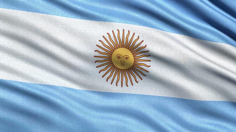 4K Flag of Argentina seamless loop Ultra-HD Animation