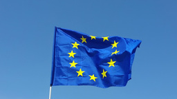 Flag Of European Union stock footage