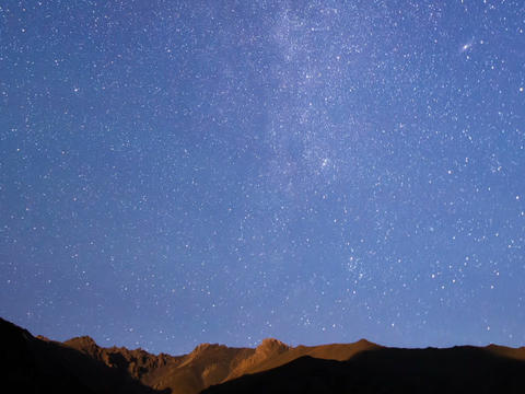 Stars over the mountains. Time Lapse. 640x480 Footage