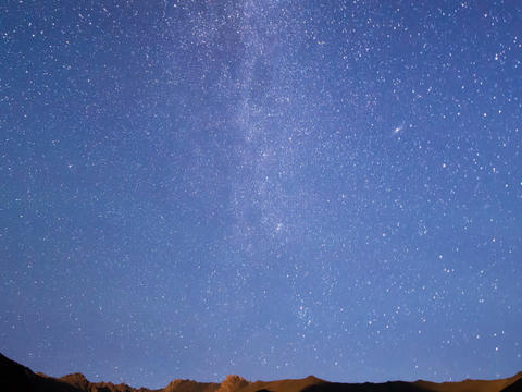 Milky Way in the mountains. Time Lapse. 640x480 Live Action